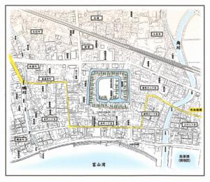 魚津城地図