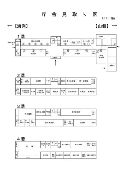 庁舎平面図
