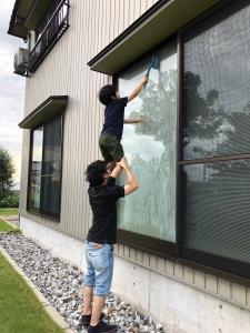 窓掃除はおまかせ